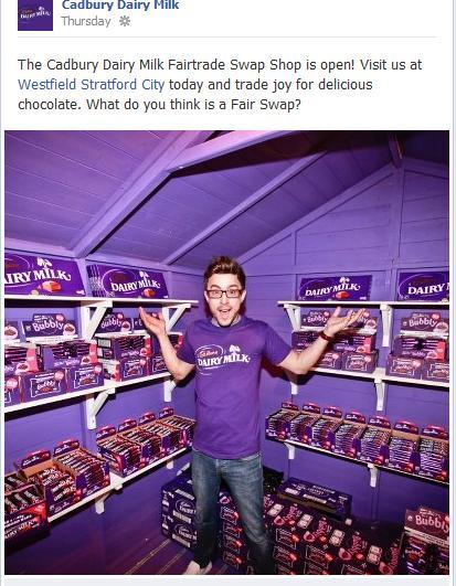 Facebook post Cadbury