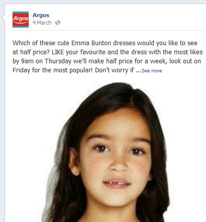 Argos users to 'like' and choose products