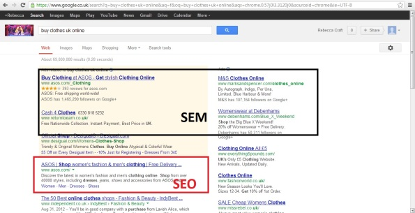What does SEO and SEM mean?